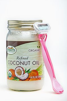 Shaving with Coconut Oil - Does it Work? Yes it does and I love it!!  Especially on the bikini line!