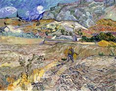 Vincent Van Gogh - Landscape at Saint-Remy (The Plouged Field)