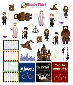 School of Wizardry Stickers | Erin Condren Life Planners, Plum Paper, Filofax, Scrapbooking, Calendars - The Hippie Planner