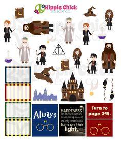 School of Wizardry Stickers | Erin Condren Life Planners, Plum Paper, Filofax, Scrapbooking, Calendars - The Hippie Planner
