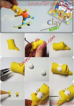 МК лепка Симпсоны -Gumpaste (fondant) The Simpson family characters tutorials - Страница 2 - Мастер-классы по украшению тортов Cake Decorating Tutorials (How To's) Tortas Paso a Paso