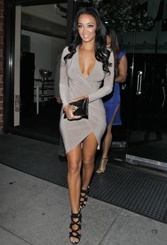 2 Draya michele just enaj dress and jimmy choo braided shoes sandals