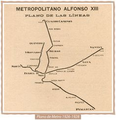 Mapa del metro de Madrid en 1931.