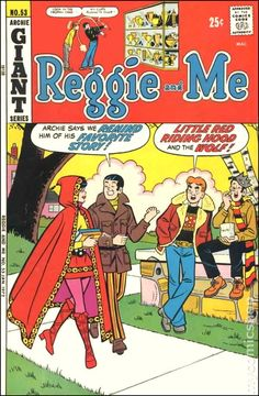 Reggie and Me ~ Little Red Riding Hood Cover Art Vintage Comic Books, Vintage Cartoon, Vintage Comics, Creepy Comics, Funny Comics, Book Cover Art, Comic Book Covers, Jughead Comics, Archie Betty And Veronica
