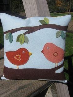 Cute wool felt pillow