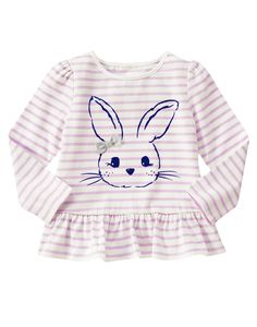 Lavender bunny themed clothing at Gymboree - I want it all