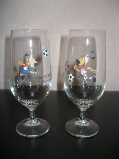 Vintage lot x2 old glasses has beer fifa world cup world cup usa 94 1994  | eBay