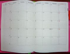 Month on a two page spread.