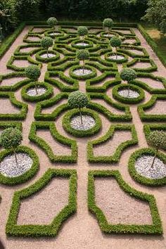 From century Europe, the formal or knot gardening style incorporates geomet. - From century Europe, the formal or knot gardening style incorporates geometric shapes such as - Boxwood Garden, Topiary Garden, Garden Art, Topiary Trees, Modern Landscaping, Backyard Landscaping, Formal Garden Design, Parks, Formal Gardens