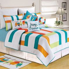 Great Zuma Bay Multicolored Quilt Bedding Impressive Blue And Orange Image  Outstanding Boy Crib Baby Twin Comforter Sets Navy Stock Photos HD