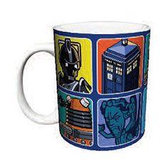 Doctor Who Cartoons Blue 11 oz. Mug - Culturenik - Doctor Who - Mugs at Entertainment Earth