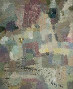 Camille BRYEN, Sans titre, 1971, huile sur toile. Coll. Musée PAB, Alès. Achat janvier 2015. ©ADAGP, Paris 2016