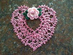 Ravelry: Irish Crochet Heart Ornament pattern by Annie Potter