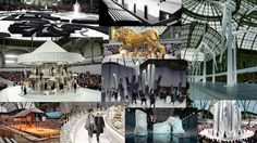 recent Chanel show stage designs at Grand Palais