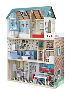 cutest doll house ever Dollhouse Design, Wooden Dollhouse, Wooden Dolls, Diy Dollhouse, Dollhouse Miniatures, Tiny Furniture, Barbie Furniture, Dollhouse Furniture, Mini Doll House