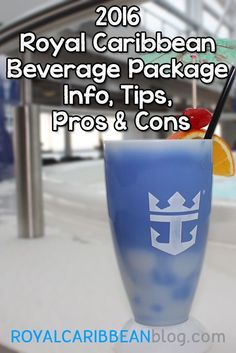 Helpful information for understanding Royal Caribbean's drink packages.  #royalcaribbean #rccl #cruisetips Let us help you plan a trip on Royal Caribbean by requesting a quote at http://destinationsinflorida.com/pinterest