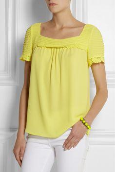 ALICE by Temperley|Mina crepe toplemon yellow