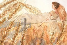 """""""Wheat"""" Graphic/Illustration by Greta Schimmel posters, art prints, canvas prints, greeting cards or gallery prints. Find more Graphic/Illustration art prints and posters in the ARTFLAKES shop. Arches Watercolor Paper, Canvas Prints, Art Prints, Graphic Illustration, Rum, Charity, December, My Arts, Woman"""