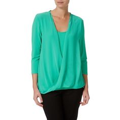 W.Lane Drape Front Top Shirt Blouses, Shirts, Blouse Online, Tunic Tops, V Neck, Tees, Lady, Clothes, Shopping