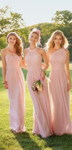 Bridesmaid dresses. Choose a most suitable bridesmaid dress for your wedding ceremony. You'll want to take into account the dresses that would certainly flatter your bridesmaids, at the same time, match your wedding style.