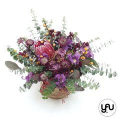 Aranjament floral cu flori MOV VIOLET _ YaU Concept _ elenatoader (3)