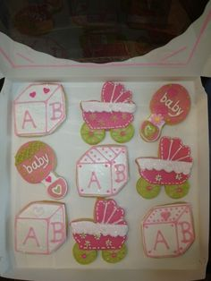 It's a Girl! - See more of our cookies at http://www.ctcookietreats.com