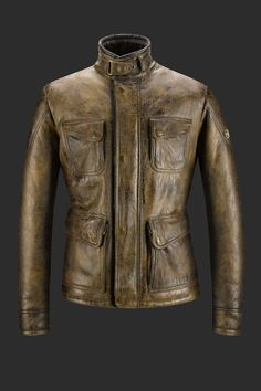3/4 shearling jacket for men | Fulham Jacket antique cuero | Matchless London
