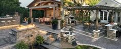 From wood grain to cobblestone styles and beyond, discover the top 50 best stamped concrete patio ideas. Explore simple to maintain outdoor space designs. Paved Backyard Ideas, Fire Pit Backyard, Concrete Patio Designs, Backyard Patio Designs, Brick Patios, Concrete Patios, Cottage Patio, Porch Ideas, Patio Ideas