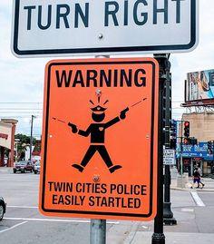 Fake street signs wa