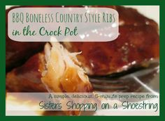 Crock Pot BBQ Country Style Ribs Recipe - Sisters Shopping on a Shoestring