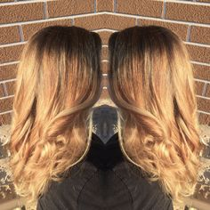 From box color to blonde  Highlights  Balayage  Ombre  Redken  Curls  Blonde hair