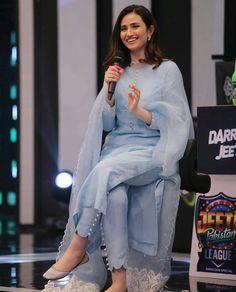 Sana Jawed in traditional Simple Kurti Designs, Stylish Dress Designs, Kurta Designs Women, Designs For Dresses, Stylish Dresses, Simple Pakistani Dresses, Pakistani Fashion Casual, Pakistani Dress Design, Pakistani Outfits