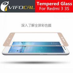 hacrin Xiaomi Redmi 3 Tempered Glass Color Full Cover Screen Protector Film Guard For Xiaomi Redmi 3S 3X Mobile Phone //Price: $0.00//     #electonics