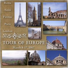 Tour of Europe 2007 Album Cover - Scrapbook.com