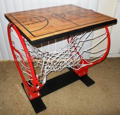 Basketball Table. Designed and built by Kenna Corley.