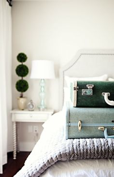 Jillian Harris' guest bedroom with just a touch of vintage from Charlie Ford Vintage
