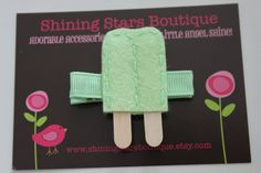 Party Favors For Summer Popsicle Party??   Hair Accessories  Felt Hair Clip  by shiningstarsboutique on Etsy, $3.25