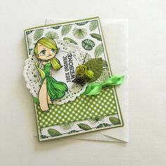 All Occasion Card  100% Organic Awesome  Green by JessideeHandmade