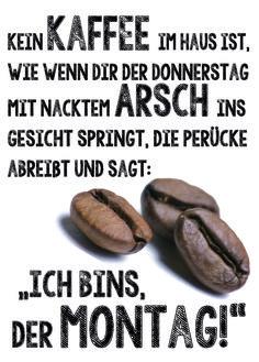 kein Kaffee im Haus - Spass Postkarte lustige Kart von Poster-kreativ.de auf DaWanda.com