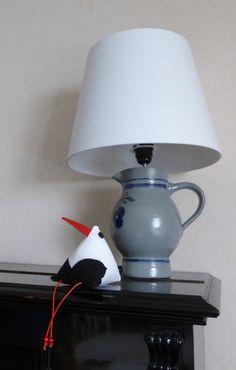 Cigogne en tissu, décorative, façon berlingot : Accessoires de maison par alsace-gourmets