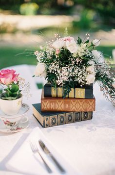 Books Wedding Centerpiece Idea