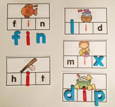 Making Words Activity Cards Short Vowels