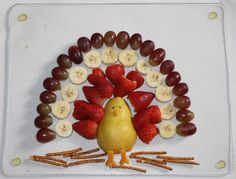 Change it to be fruit on sticks out of the pear. thanksgiving snack- cute for A & J school snack