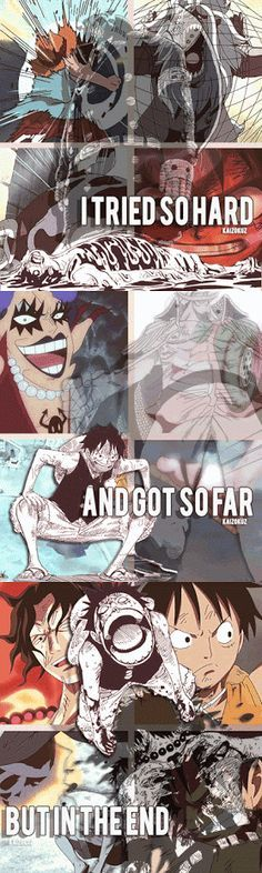 One Piece and Linkin Park lyrics! This is awesome! Sad but still awesome!