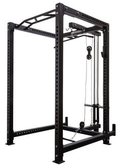 A beast of a cage, this new model will serve you well in commercial and home settings alike. The versatile and feature-rich cage is ideal for all types of strength training. Home Made Gym, Diy Home Gym, Gym Room At Home, Best Home Gym, Homemade Gym Equipment, Diy Gym Equipment, No Equipment Workout, Fitness Equipment, The Rock Hercules Workout
