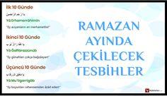 Ramazan Ayında çekilecek zikirler ve Tesbihler