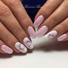 Beautiful Nail Designs To Finish Your Wardrobe – Your Beautiful Nails Easy Nails, Simple Nails, Cute Nails, Pretty Nails, Simple Nail Art Designs, Beautiful Nail Designs, Fall Nail Designs, Floral Nail Art, Wedding Nails Design