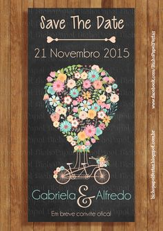 save the date rosa azul amarelo chalkboard vintage