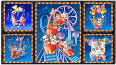 South Seas Imports Critter Carnival Quilt by BlackBirdFabrics