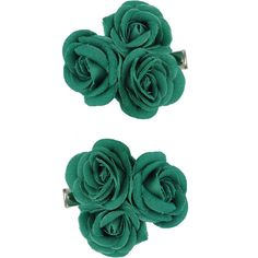 Rosette Trio Hair Clips ($2.50) ❤ liked on Polyvore